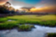 Picture of a sunset over St. Joe Bay in the panhandle of Florida as a fine art nature print for the wall of your home or office.