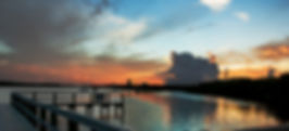 Picture of a sunset at the mouth of the Alafia River in Gibsonton, Florida as a fine art print for the wall of your home or office.