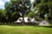 Picture of a large ranch house in Linden, Florida with a wrap around porch as a fine art nature print for the wall of your home or office.