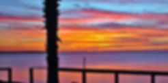 Picture of a sunset over Tampa Bay, Florida as seen from Bahia Beach in Ruskin as a fine art nature print for the wall of your home or office.