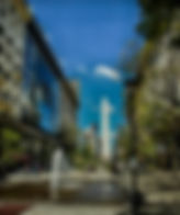 Picture of the Obelisco de Buenos Aires on Avenide Nueve de Julio in Buenos Aires, Argentina as a fine art print for the wall of your home or office.