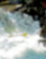 Picture of a submerged kayaker at The Sinks on the Little River in the Great Smoky Mountains as a fine art print for the wall of your home or office.