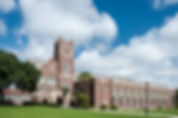 Picture of Hillsborough High School, one of the oldest high schools in the south, is located in the heart of Tampa, Florida's Seminole Heights neighborhood as a fine art print for th walls of your home or office.