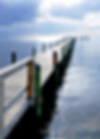 Picture of the dock at Bahia Beach in Ruskin, Florida as a fine art print for the wall of your home or office.