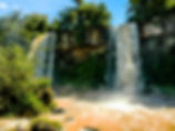 Picture of Dos Hermanas or the two sisters part of Iguazu Falls in Argentina as a fine art print for the wall of your home or office.