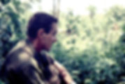 Picture of a US Army soldier taking a break in the central highland of Vietnam in 1967 as a fine art print for the wall of your home or office.