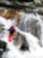 Picture of a kayaker running The Sinks in the Little River in the Great Smoky Mountains as a fine art print for the wall of your home or office.