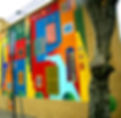 Picture of a mural in La Boca, an artist enclave in Buenos Aires, Argentina as a fine art print for the wall of your home or office.