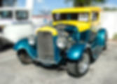Picture of a custom hot rod at the Old Town car show in Kissimmee, Florida as a fine art print for the wall of your home or office.
