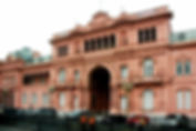 Picture of La Casa Rosada or Argentina's house of government in Buenos Aires as a fine art print for the wall of your home or office.