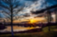 Picture of a sunrise over a pond in Riverview, Florida as a fine art nature print for the wall of your home or office.