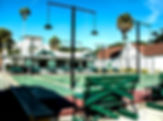Picture of a part of the St. Petersburg Shuffleboard Club in St. Peterburg, Florida as a fine art print for the wall of your home or office.