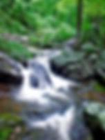 Picture of Smith Creek as it flows toward Georgia's Unicoi State Park as a fine art nature print for the wall of your home or office.