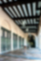 Picture of the lobby of the open air post office in downtown St. Petersburg, Florida as a fine art print for the wall of your home or office.