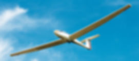 Picture of a glider or sailplane flying from the Seminole-Lake Gliderport near Clermont, Florida as a fine art print for the wall of your home or office.
