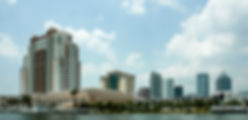 Picture of Tampa, Florida skyline as seen from channelside as a fine art print for the wall of your home or office.