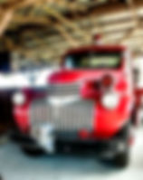 Picture of a 1956 Chevy fire engine in the Pioneer Florida Village and Museum in Dade City, Florida as a fine art print for the wall of your home or office.