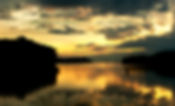 Picture of a sunset over Tampa Bay as seen from the boat ramp at Cockroach Bay in Ruskin,Florida as a fine art print for the wall of your home or office.