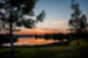 Picture of a sunrise over a lake in Brandon, Florida as a fine art nature print for the wall of your home or office.