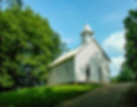 Picture of the Cades Cove Methodist Church in the Great Smoky Mountains as a fine art print for the wall of your home or office.