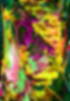 Picture of a psychedelic rendering of the side of a palm tree as a fine art nature print for the wall of your home or office.