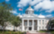 Pictue of the  Polk County Courthouse in Bartow, Florida as a fine art print for the walls of your home or office.