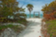 Picture of a great place to watch a sunset at Honeymoon Island State Park as a fine art print for the wall of your home or office.