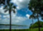 Picture of the Alafia River mouth anchorage in Gibsonton, Florida as a fine art print for the wall of your home or office.