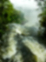 Picture of edge of one of the cataracts in Argentina's Parque Nacional Iguazu as a fine art nature print for the wall of your home or office.
