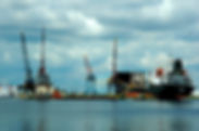 Picture of a ship in drydock in Tampa, Florida as a fine art print for the wall of your home or office.