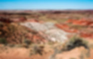 View of the Painted Desert as a fine art print for the walls of your home or office.