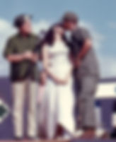 Picture of a soldier kissing Miss World during Bob Hope's USO Show in Vietnam in 1967 as a fine art print for the wall of your home or office.