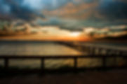 Picture of an sunset over Tampa Bay, Florida looking from Bahia Beach in Ruskin as a fine art nature print for the wall of your home or office.