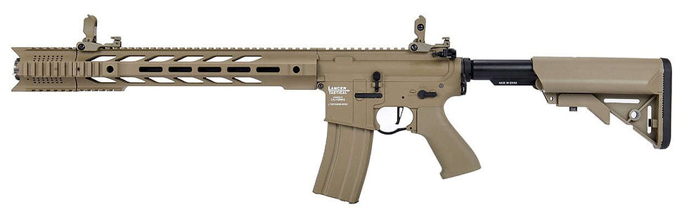 Lancer Tactical métal Interceptor Mosfet ETU Tan