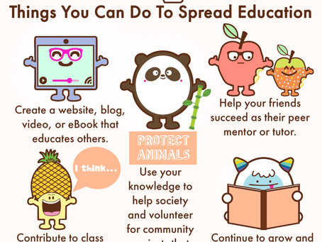 Things You Can Do To Spread Education