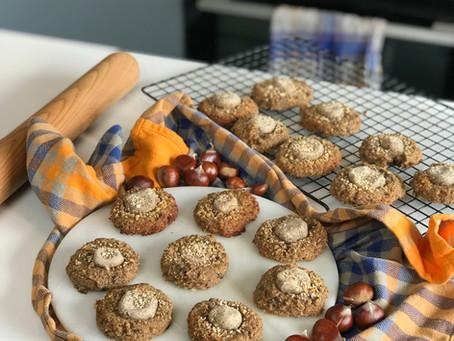 Cookies sans gluten à la châtaigne et aux pépites de chocolat