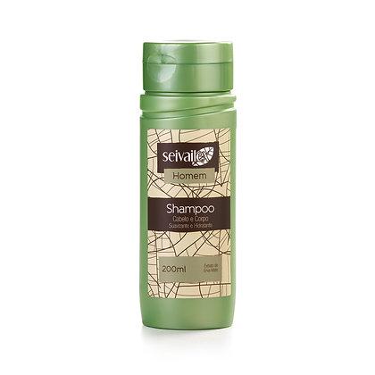 Shampoo Cabelo e Corpo Masculino Erva-Mate Seivailex 200ml