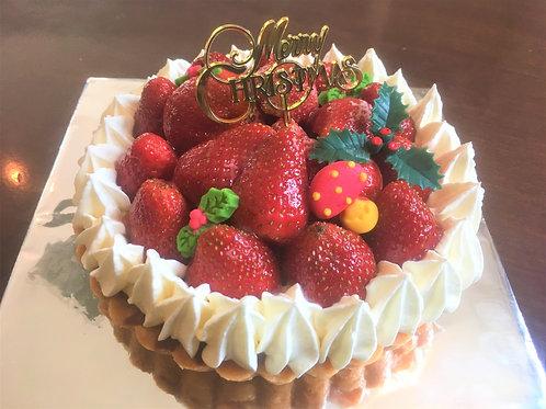 【12月限定商品】イチゴのタルト-15CM