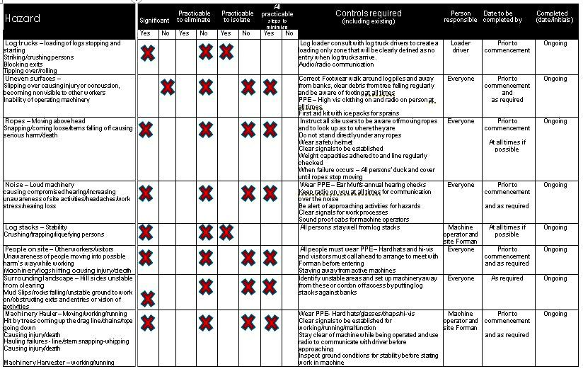 Risk Assessment Master Copy
