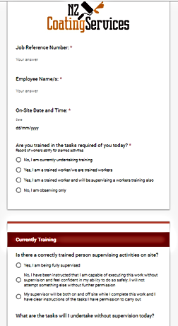 Company Hazard id form