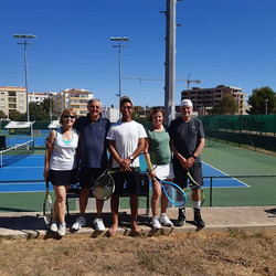 Yesterday was our last day at the tennis