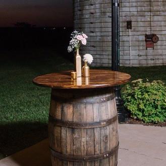 Whiskey Barrel High Top