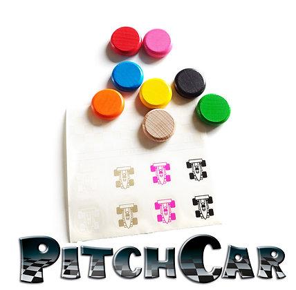 PitchCar - Voitures/Cars x8 + Sticker