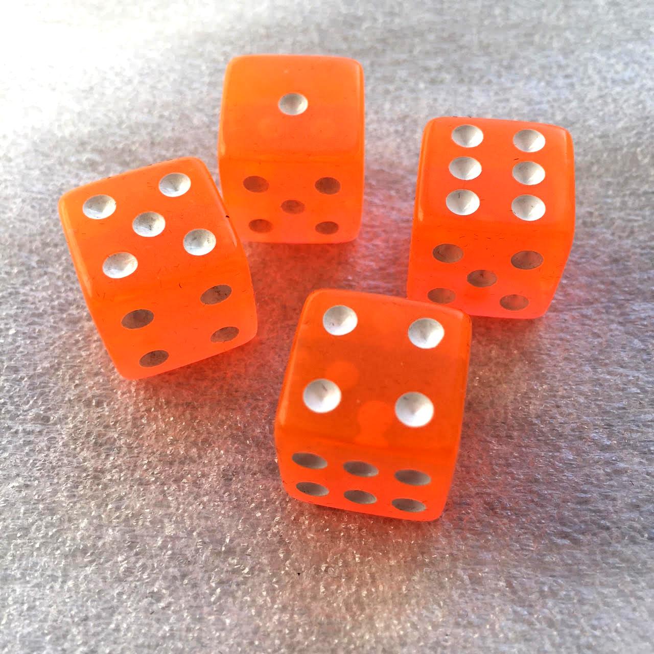 Orange dice (x4 in the 1st add-on).