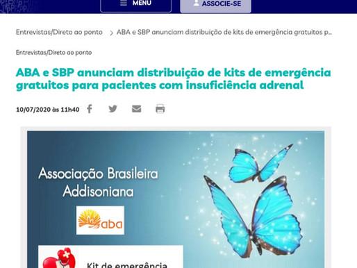ABA e SBP anunciam distribuição de kits de emergência gratuitos para pacientes com IA
