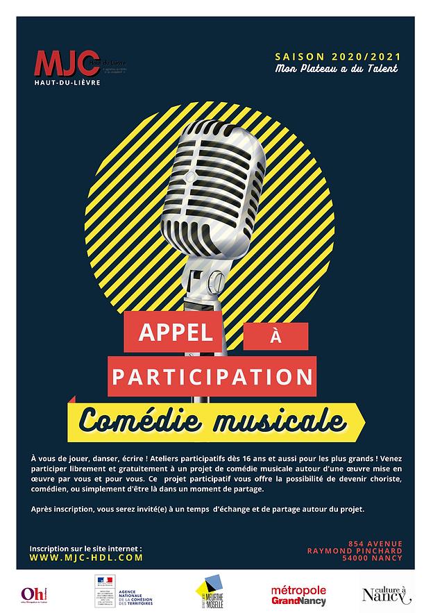 Appel à participation - Comédie Musicale
