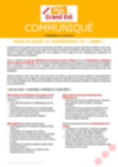 MJC Grand Est - Communiqué COVID-19 du 4 mai 2020
