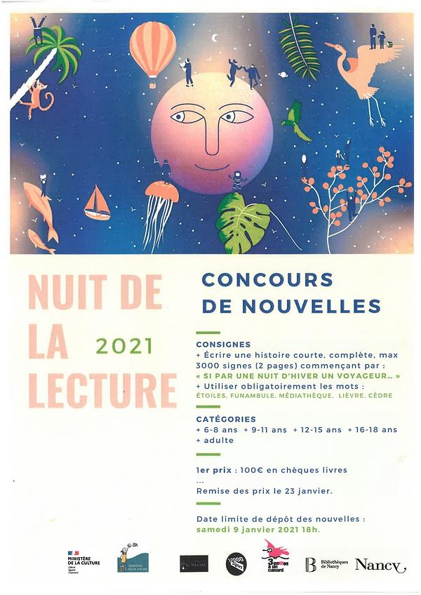 Jeu-Concours Nuit de la Lecture / Médiathèque Haut-du-Lièvre