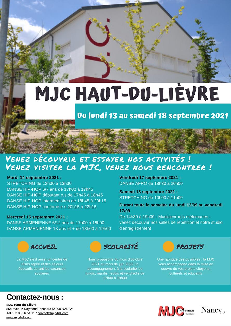 Semaine Découverte & initiation - 2021-2022