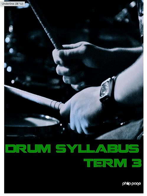Drum Syllabus Term 3